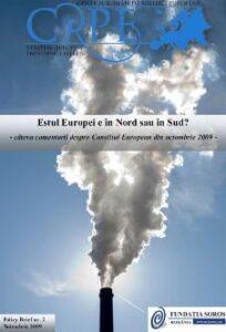 Estul Europei este Nord sau Sud - Consiliul European din octombrie 2009