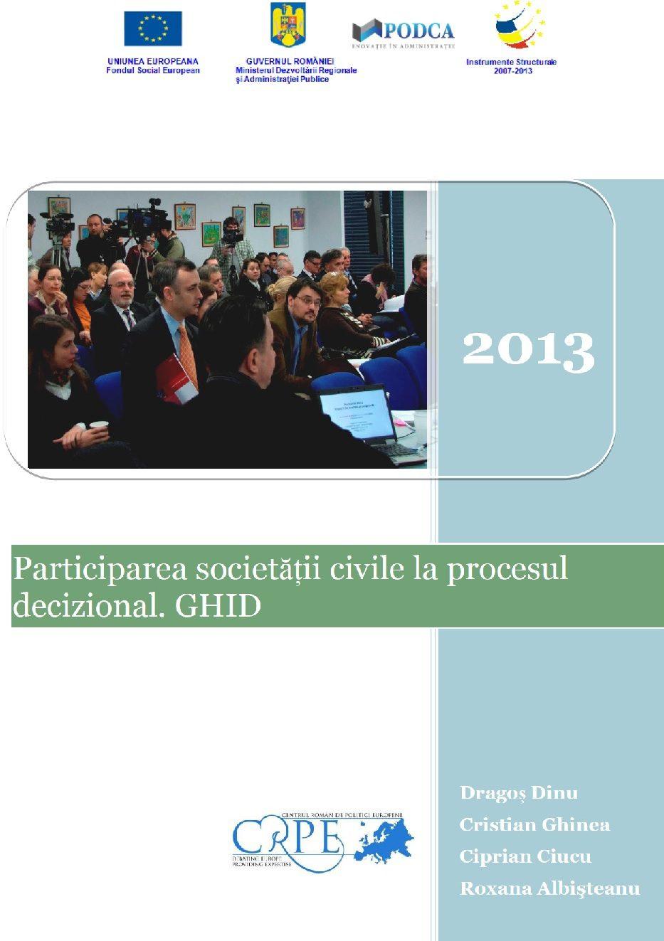 Ghid: Participarea societății civile la procesul decizional