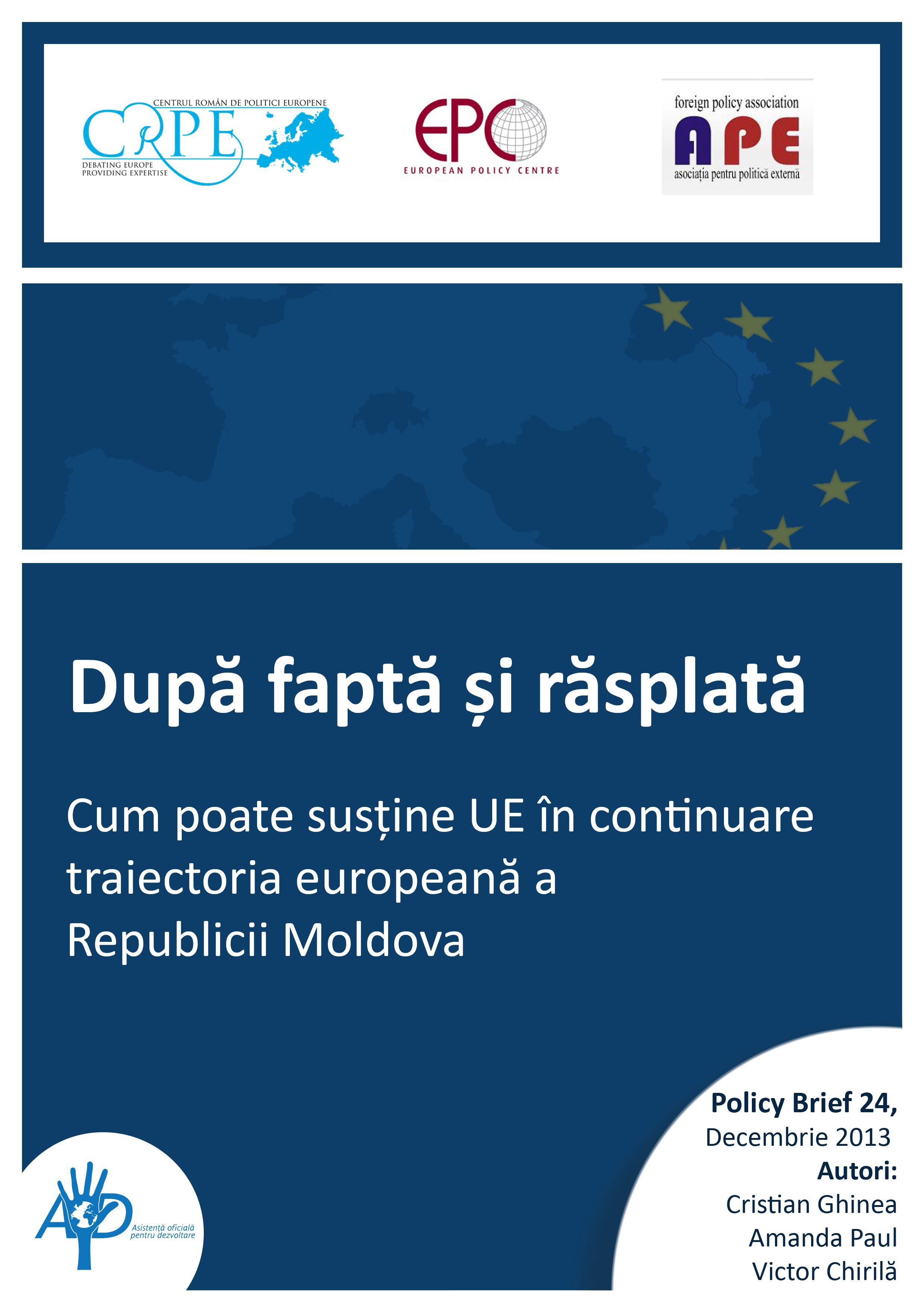 Cum poate susţine UE în continuare traiectoria europeană a Republicii Moldova