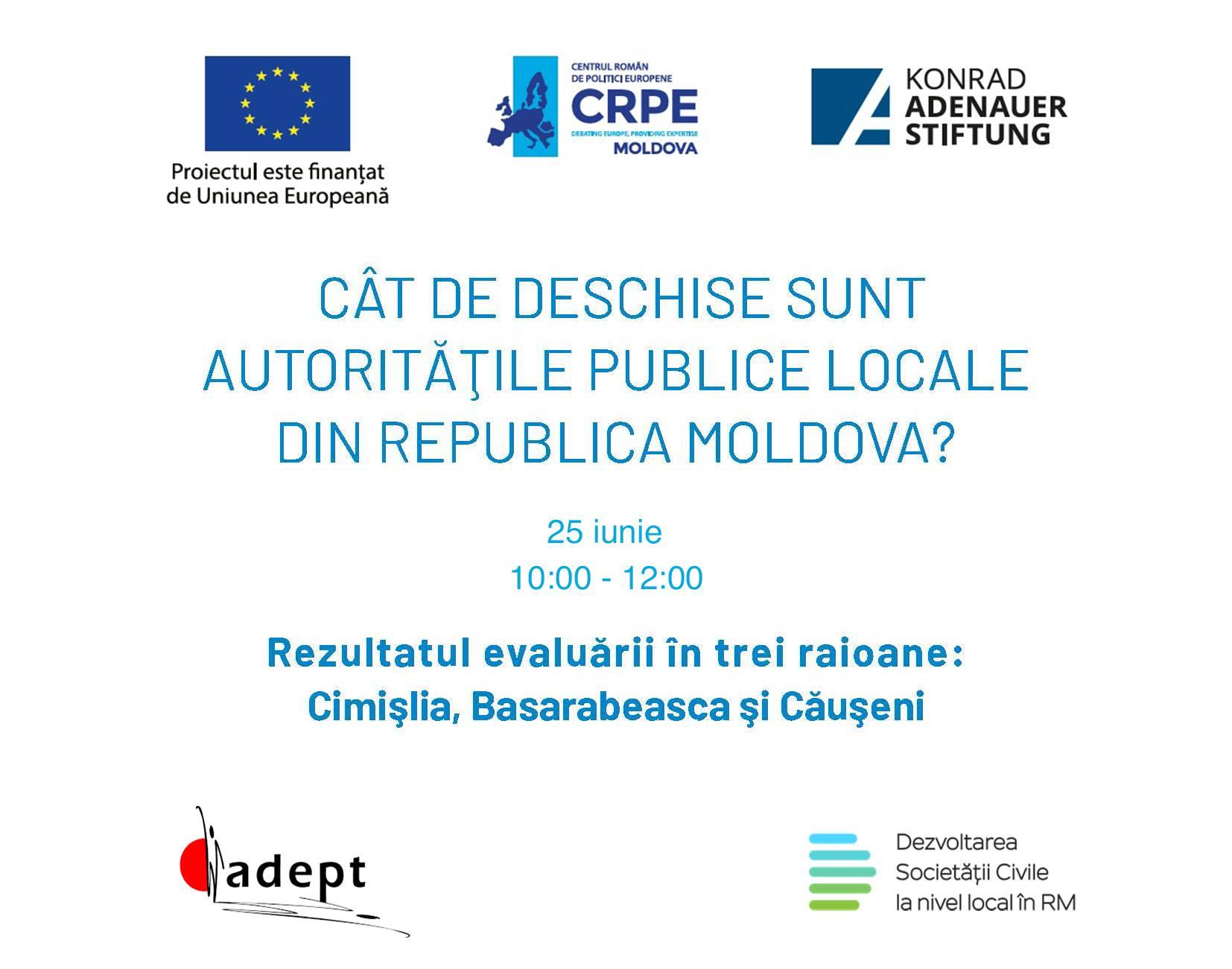 Webinar: Cât de deschise sunt autoritățile publice locale din Republica Moldova?