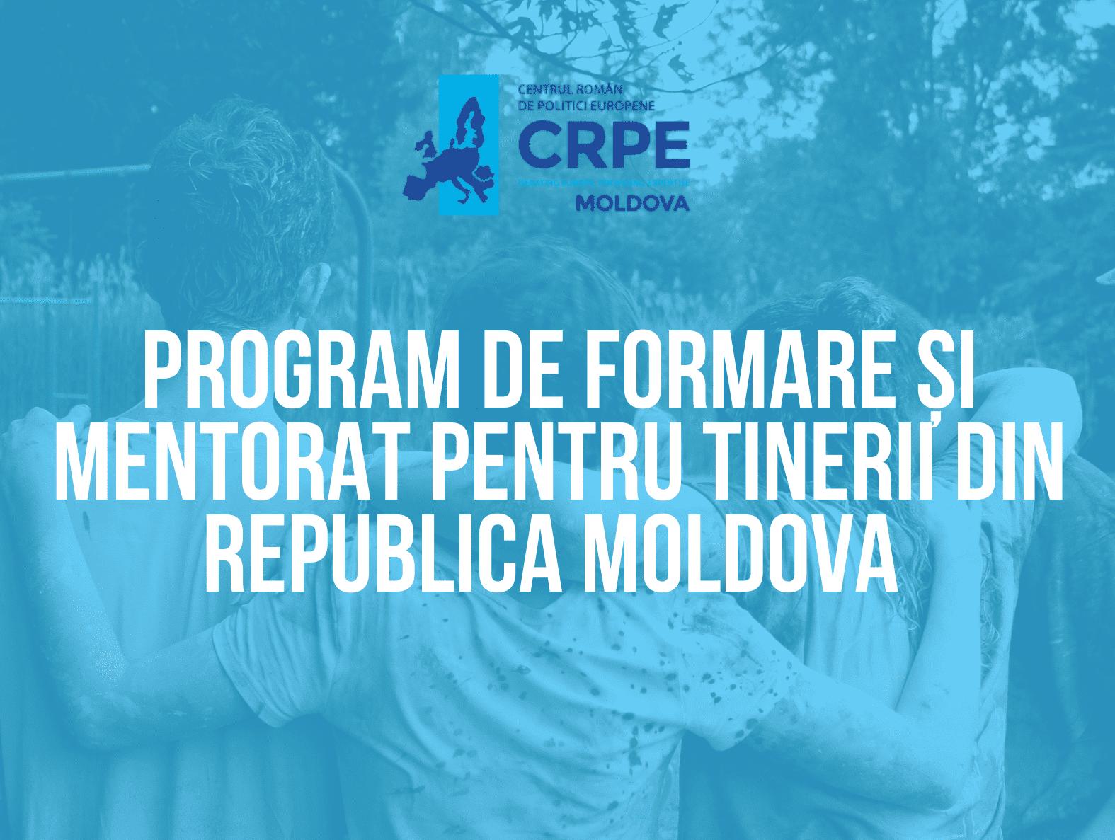 Program de training și mentorat pentru tineri: CRPE – Moldova caută tineri dornici să implementeze proiecte!